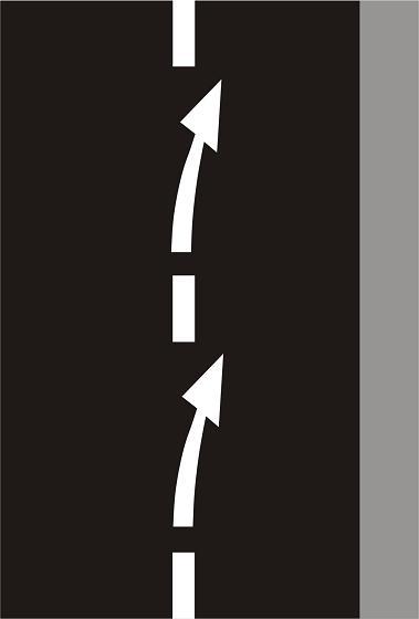 V9b - Vodorovné stříkané značení