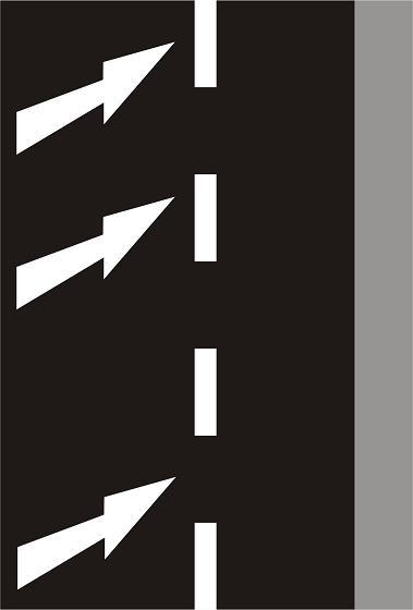 V9c - Vodorovné stříkané značení